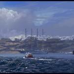 Digital plein air painting Approaching thunderstorm Santorini Greece.jpg
