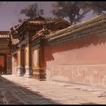 Digital plein air painting Forbidden City Bejing China by Patrick Faulwetter