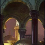 Blue Mosque, Istanbul, Turkey, plein air painting by Patrick Faulwetter