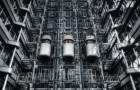 Futuristic lifts in Ludwig Erhard Haus – Berlin
