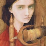 Spindle oil painting