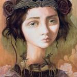 Viola oil painting