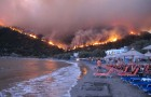 Chios island, Greece wildfires