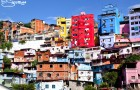 Colored houses in Venezuela