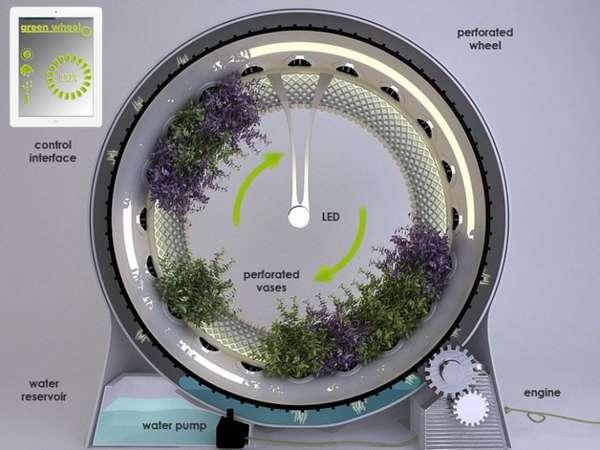 The Green Wheel by Design Libero inside