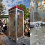 Phone booth fish tank by Kingyobu