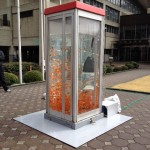 Phone booth fish tank by Kingyobu 7