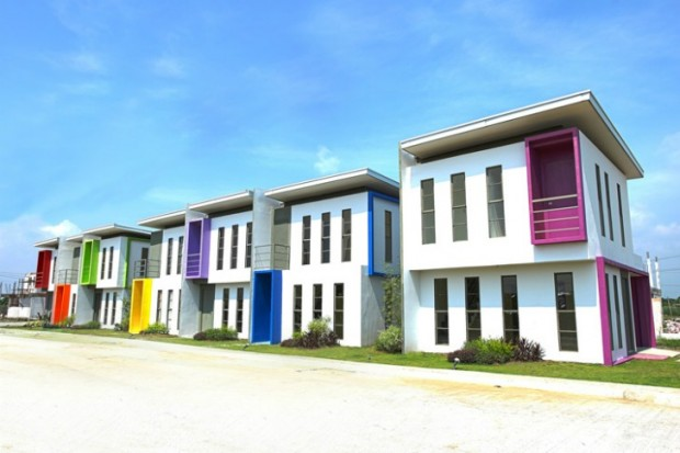 Rainbow Colored Social Housing Bamboo Orchard Subdivision Cabuyao Phillipines