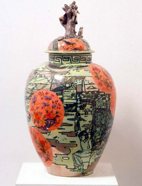Grayson Perry barbaric splendour ceramic vase