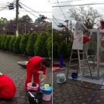 making of Phone booth fish tank by Kingyobu