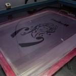 bodoni silkscreen print preparation