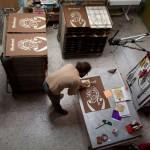 bodoni silkscreen print preparation 8