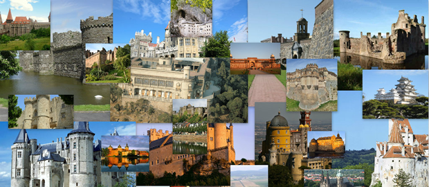 Castles of  the world collageCastles of  the world collage