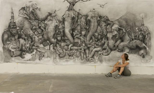 Elephants by Adonna Khare