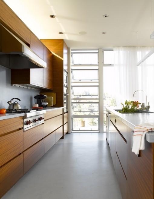 Ballard Cut Kitchen View by Prentiss Architects photo by Alex Hayden