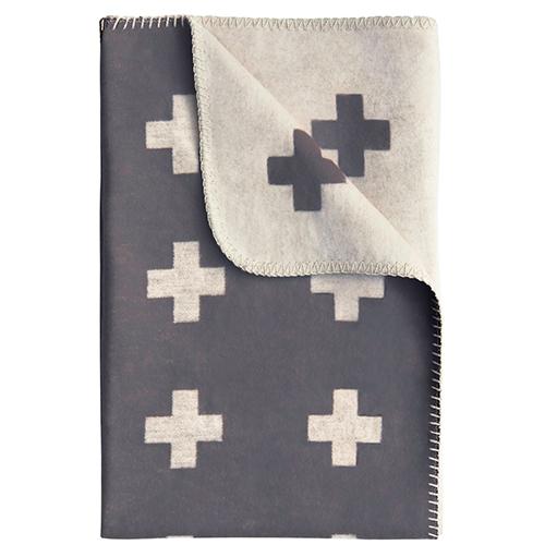 Cross Blanket Grey by Pia Wallen