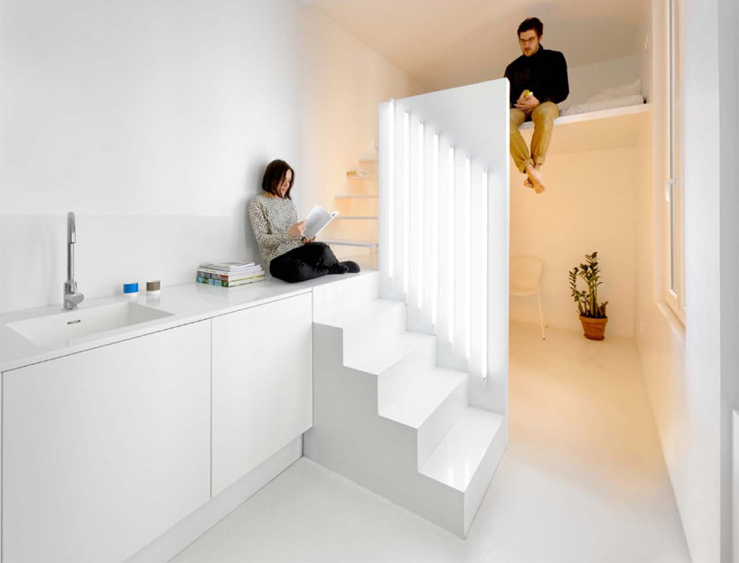 Spectral Apartment, warm and cool are parsed out in the built form