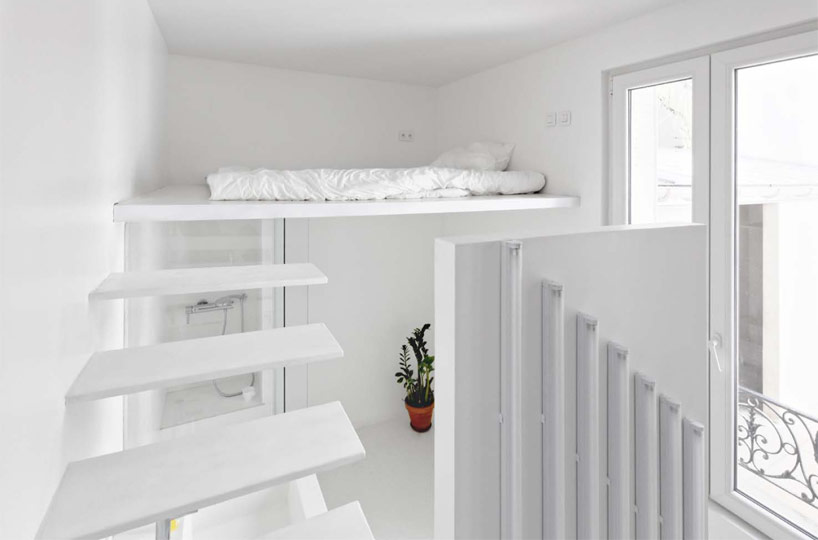 Spectral Apartment, neutral interiors for creating a logical composition