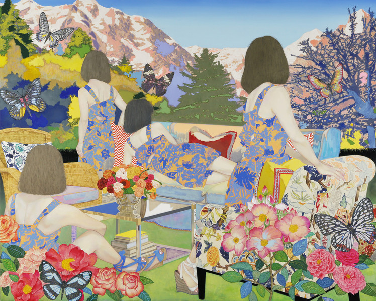 If surpasses at the mountain by Naomi Okubo Painting 2013
