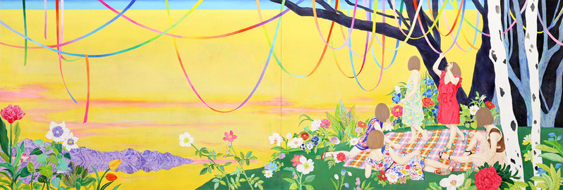 Party Forever by Naomi Okubo Painting 2013