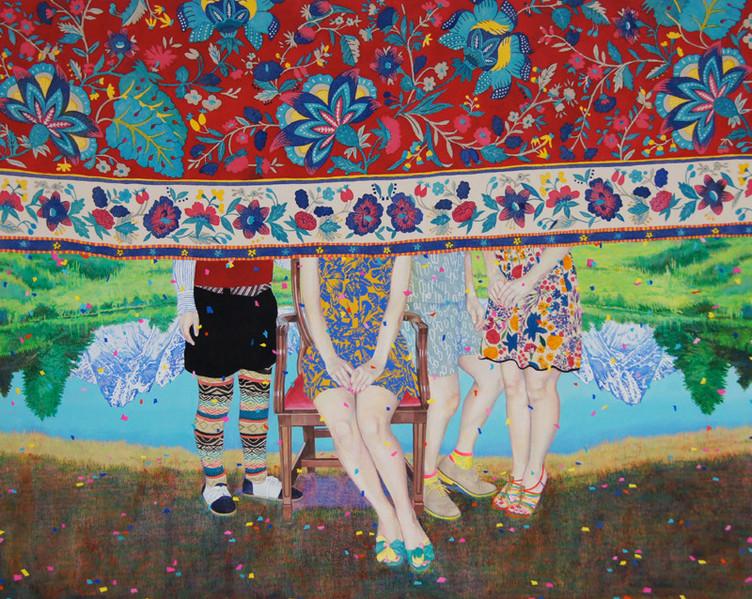 The Family by Naomi Okubo Painting 2013