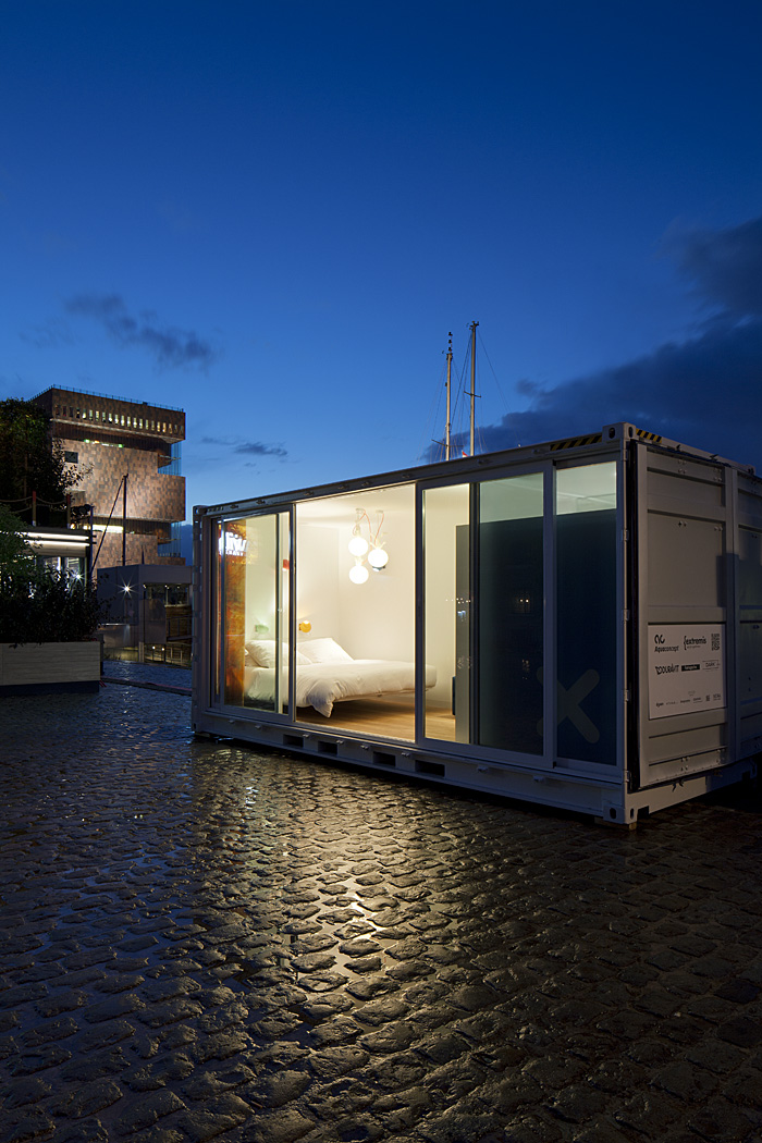 Sleeping Around Pop Up Hotel at night