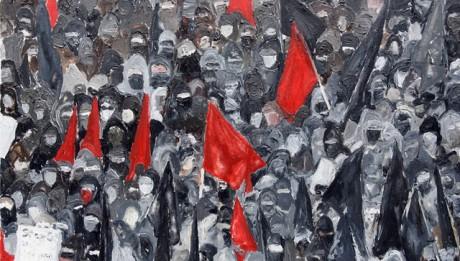 Artwork 1 Black Bloc Rostock-2008 by Mona Vatamanu and Florin Tuodr