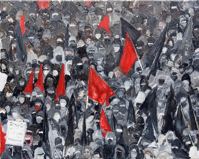 Artwork 1 Black Bloc Rostock-2008 by Mona Vatamanu and Florin Tuodr